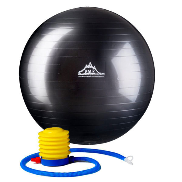 2000 Lbs. Static Strength Stability Ball with Pump - Black