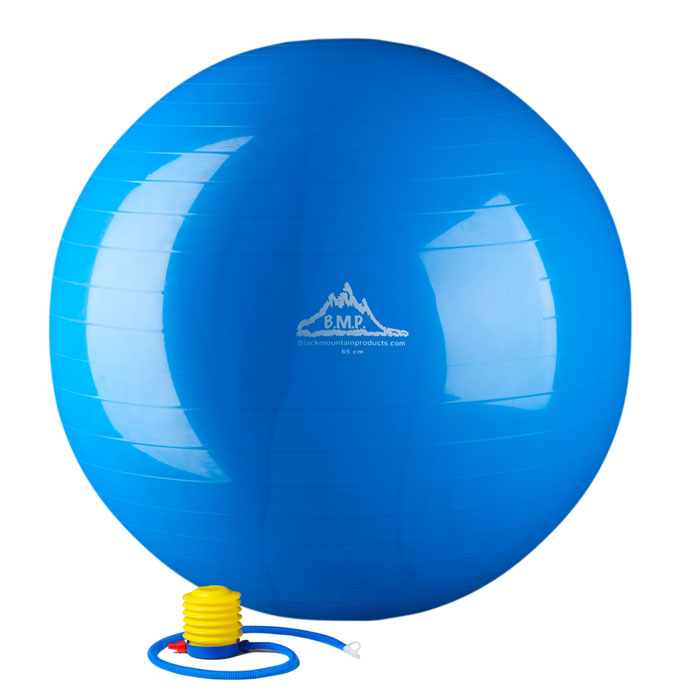 Balance Ball Blue: 2000 Lbs. Static Strength Stability Ball With Pump