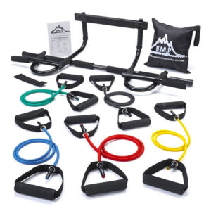 Resistance Bands and Pull Up Bar Combo