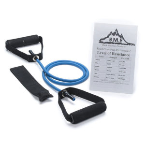 SINGLE BLUE RESISTANCE BAND WITH DOOR ANCHOR - 4-6LBS