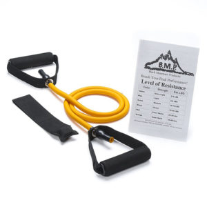 Single Orange Resistance Band with Door Anchor - 30-35Lbs