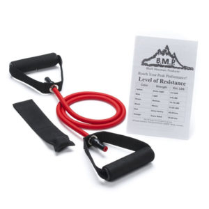 Single Red Resistance Band with Door Anchor - 20-25Lbs