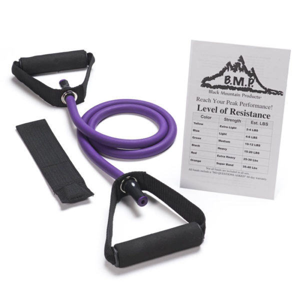 Single Purple Resistance Band with Door Anchor - 40-45Lbs