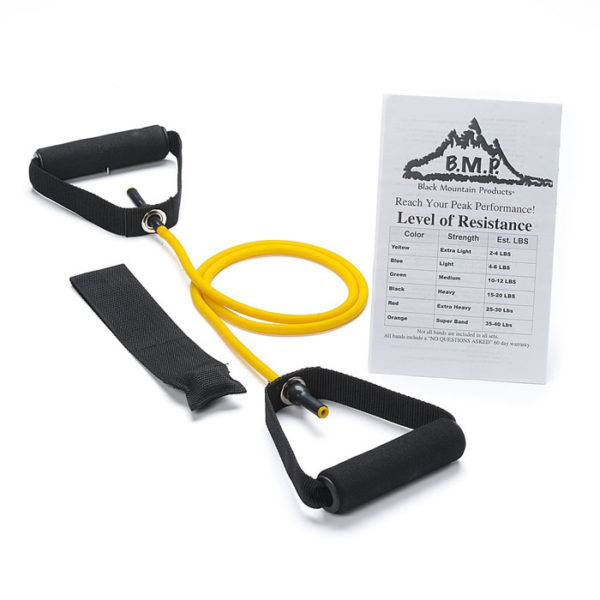 Single Yellow Resistance Band with Door Anchor - 2-4Lbs