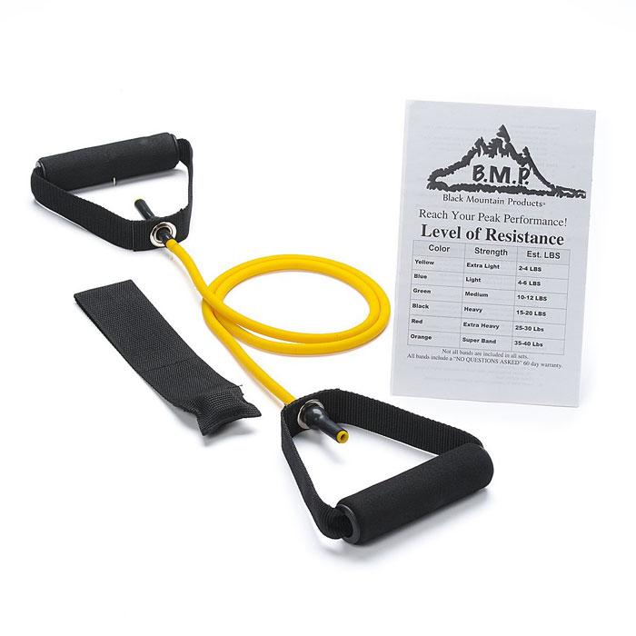 SINGLE YELLOW RESISTANCE BAND WITH DOOR ANCHOR