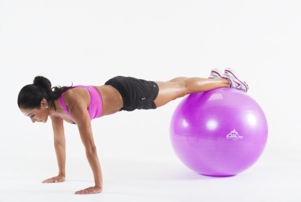 2000 Lbs. Static Strength Stability Ball with Pump - Purple