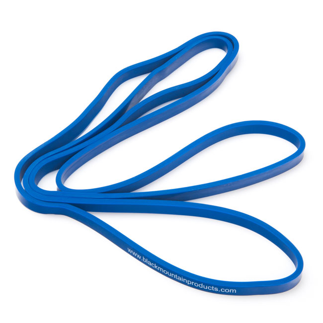 1  2 quot  blue strength loop resistance band black mountain products mountain guide training school mountain guide training canada