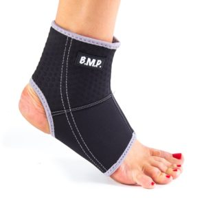 Lightweight and Breathable Neoprene Black Ankle Brace / Compression Sleeve