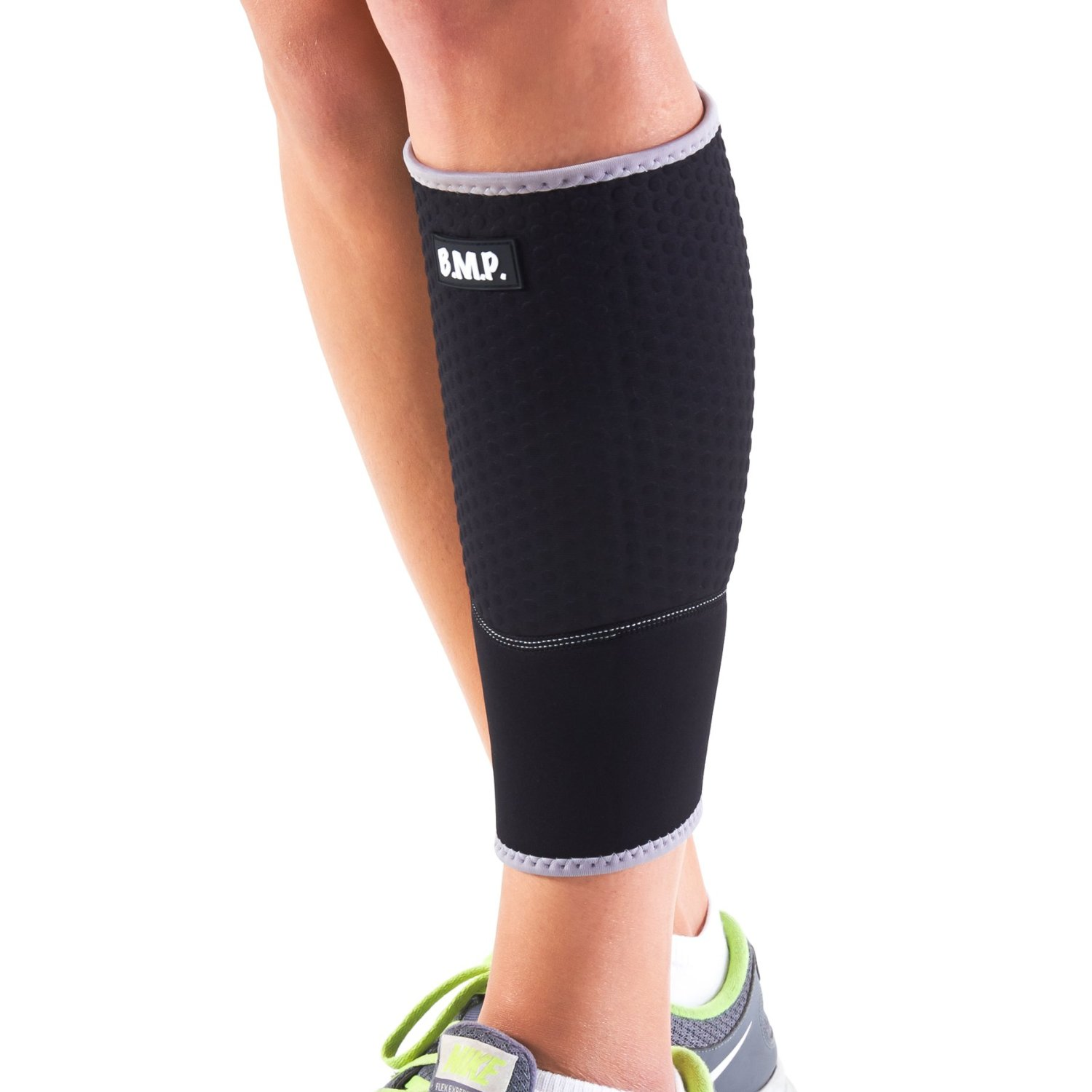 lightweight and breathable black calf brace compression sleeve black mountain products. Black Bedroom Furniture Sets. Home Design Ideas