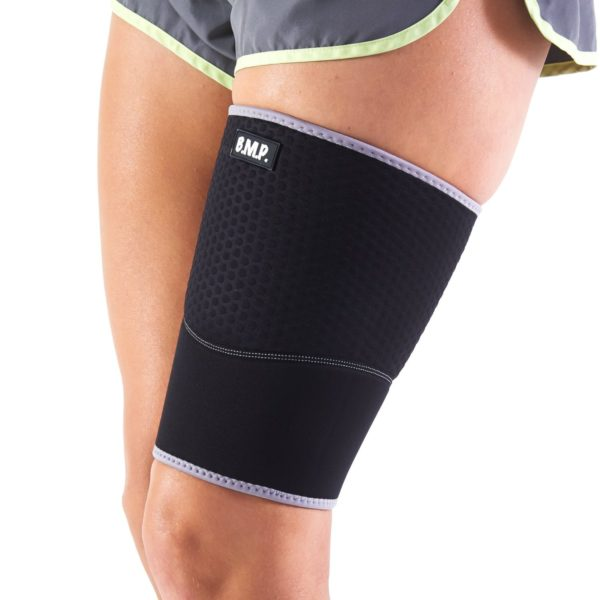 Lightweight and Breathable Black Thigh Brace / Compression Sleeve