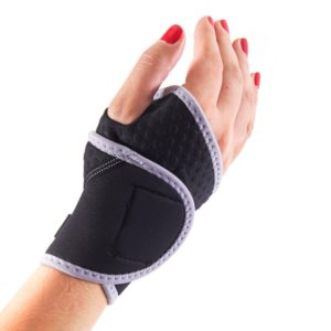 Lightweight and Breathable Neoprene Black Wrist Brace / Compression Sleeve