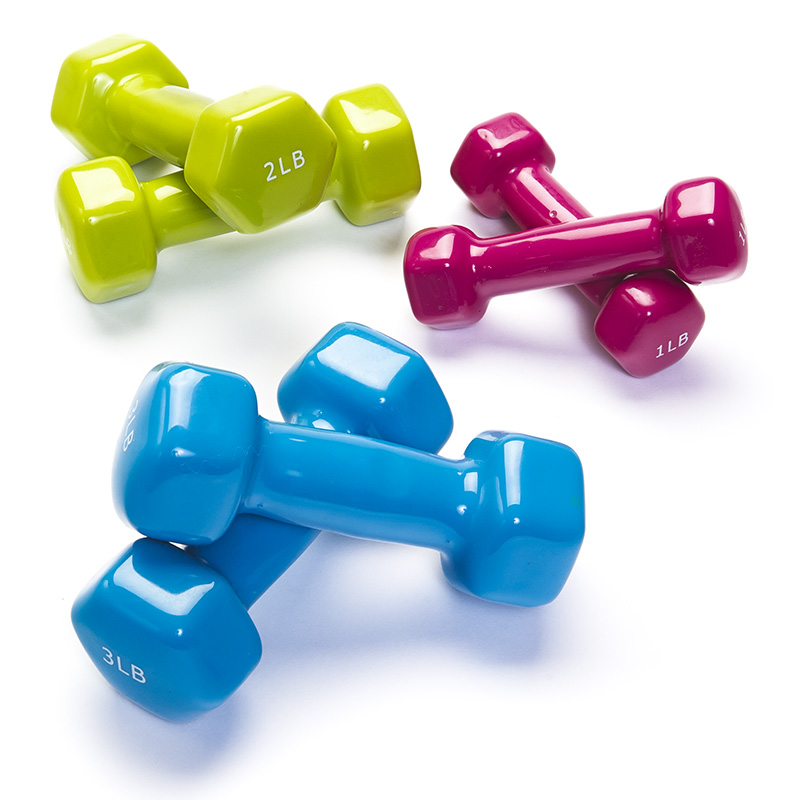 Vinyl Dumbbell Set Combo Black Mountain Products