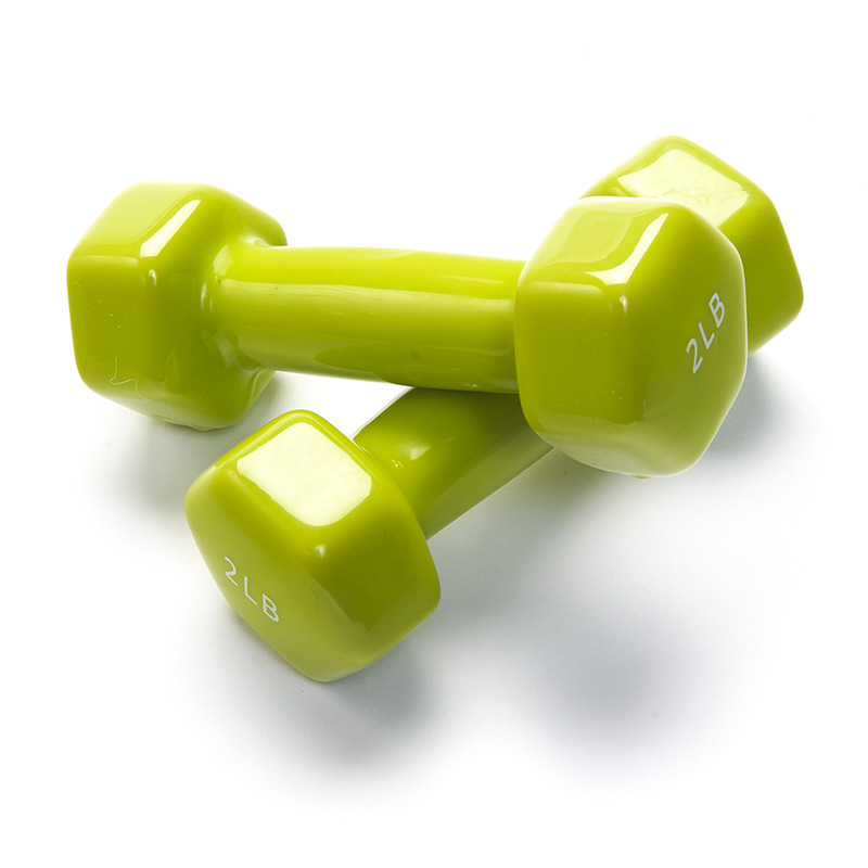 Vinyl Dumbbells Set Of 2 Black Mountain Products