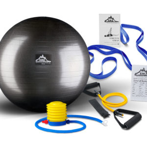 blk-stability-ball-blue-stretch-straps-yellow-band