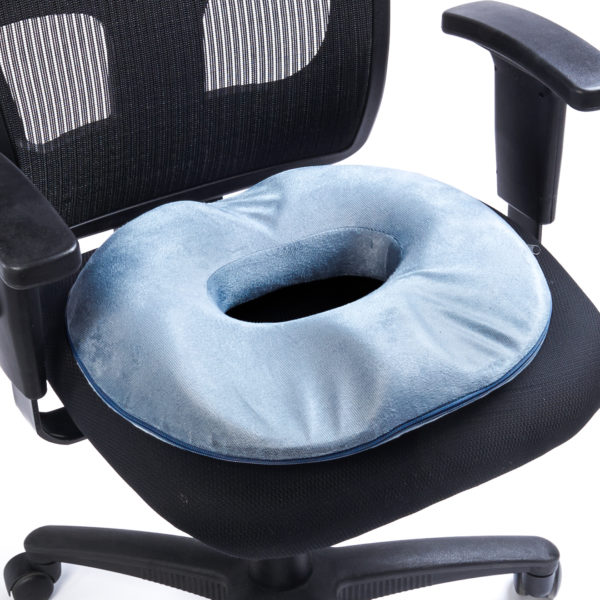 Black Mountain Products Donut Orthopedic Tailbone Seat Cushion - Grey