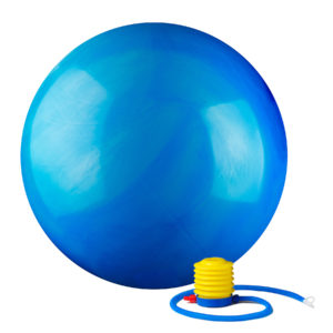 Black Mountain Products 2000lbs Static Strength Multi Colored Stability Ball - Blue