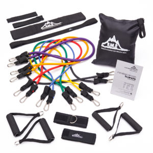 Stackable Resistance Band Set of 7 - With Accessory Kit
