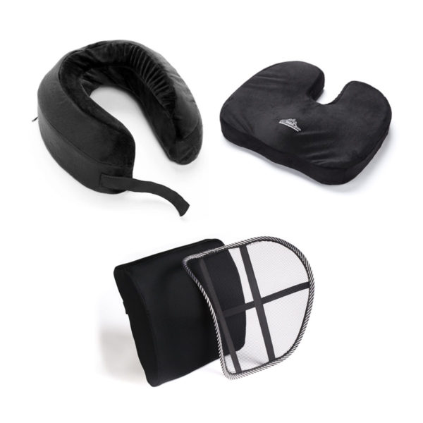 Orthopedic Seat Cushion Back Support and Neck Pillow Combo