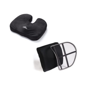 Orthopedic Memory Foam Seat Cushion and Lumbar Support Kit