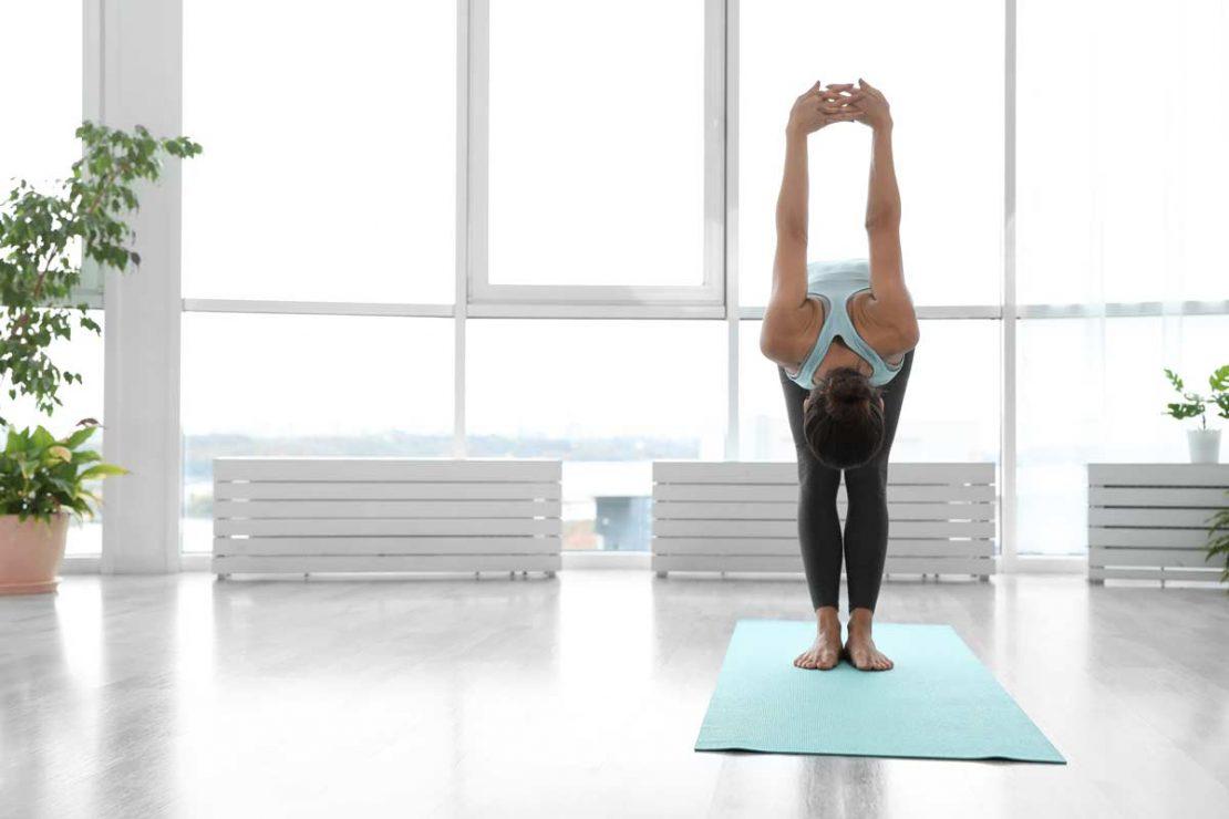 Yoga Foward Fold Shoulder Opener