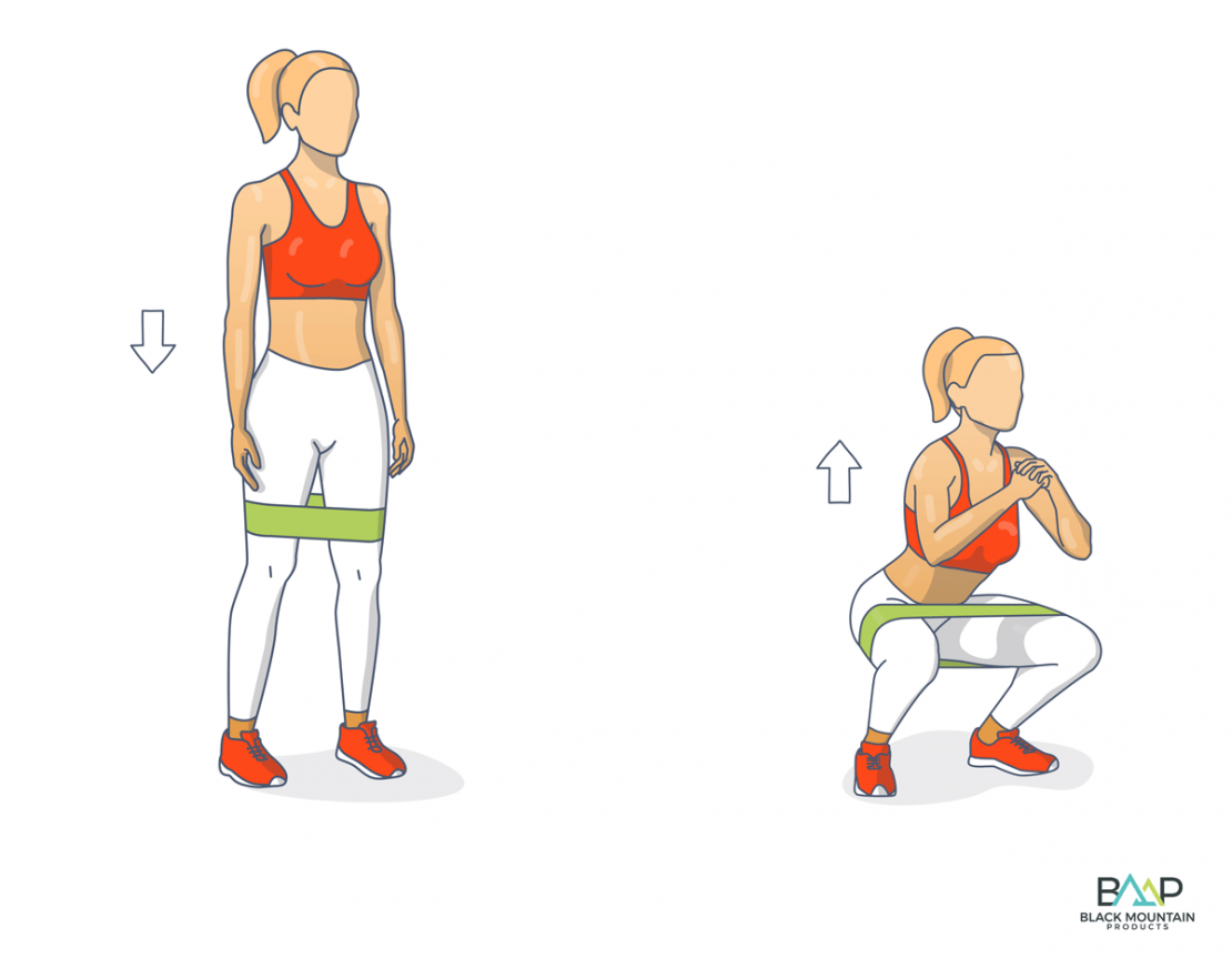 Squats Loop Band Workout