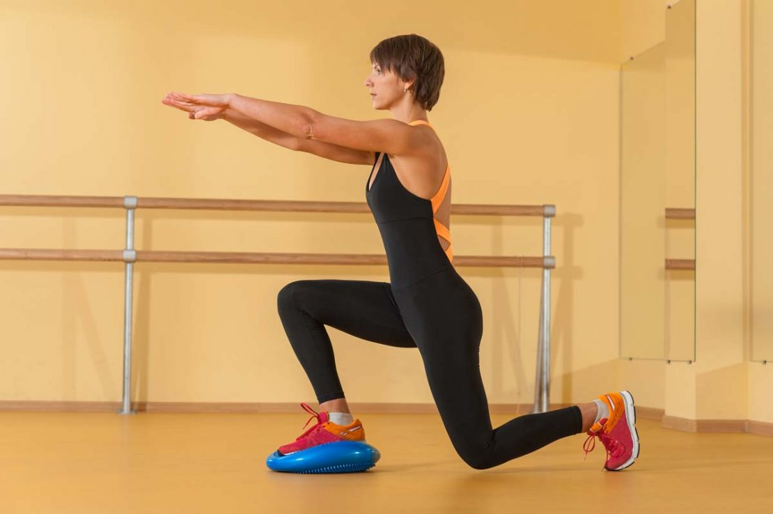 Stability Disc Exercise Lunges