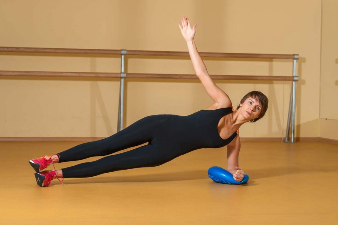 Stability Disc Exercise Side Plank