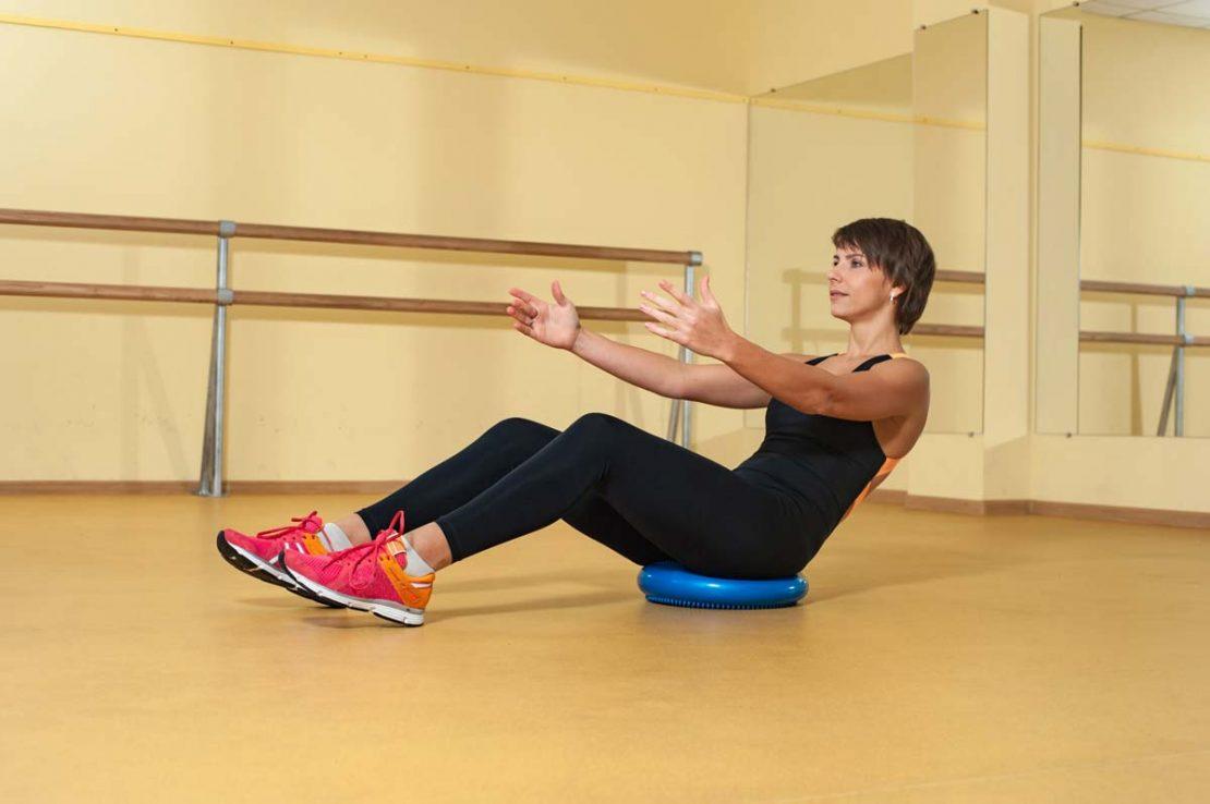 Stability Disc Exercise V Hold